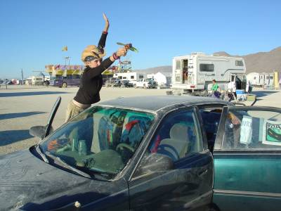 My car at Burning Man in all its glory.