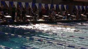 Swim a Mile for Women with Cancer participants at the Mills College pool