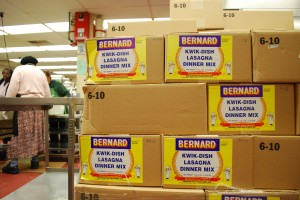 Bernard Food Industries shipped 49 cases of canned pasta to the OUSD central kitchens in February.