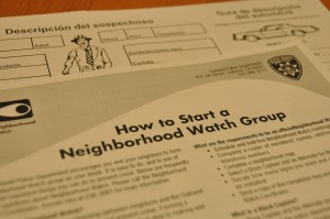 The Oakland Police Department encourages residents to start a Neighborhood Watch group on their blocks. Call Brenda Ivey at (510) 238-3091 for more information.