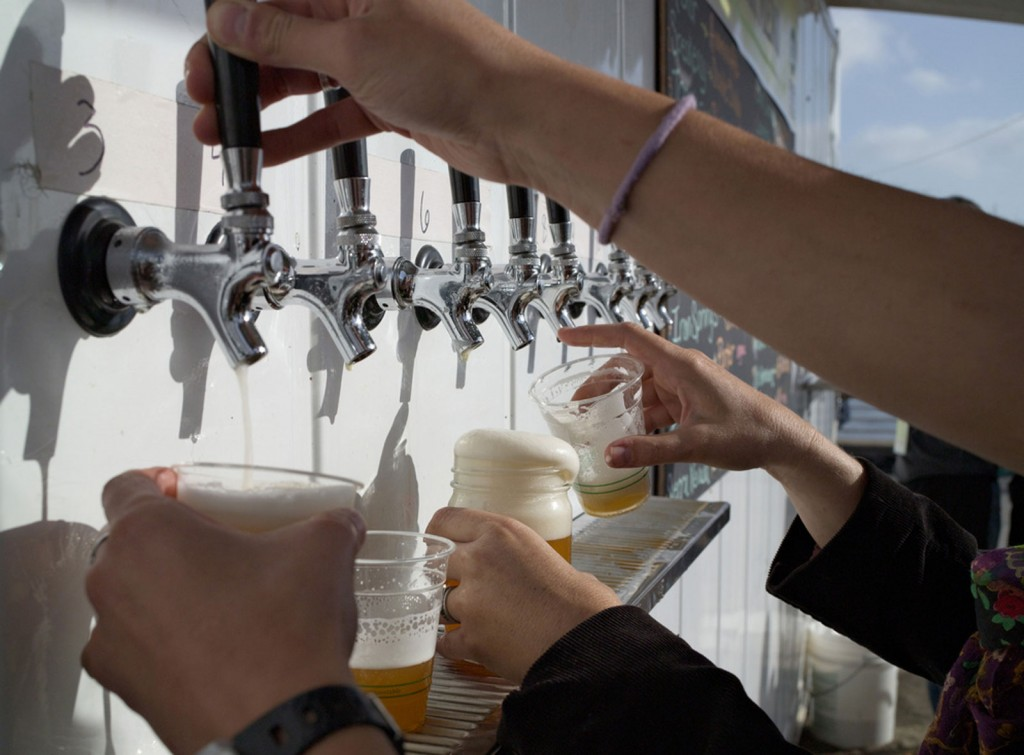 Small-batch beers are a popular feature at the Eat Real Festival. Locals may also submit their homemade brews for a beer contest Saturday. Photo courtesy of Eat Real Festival.