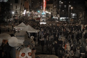 The November 2 First Friday event was smaller and shut down earlier than the October event, which organizers say drew nearly 20,000 people.