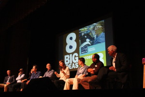 Eight scientists answered audience questions after their presentations.