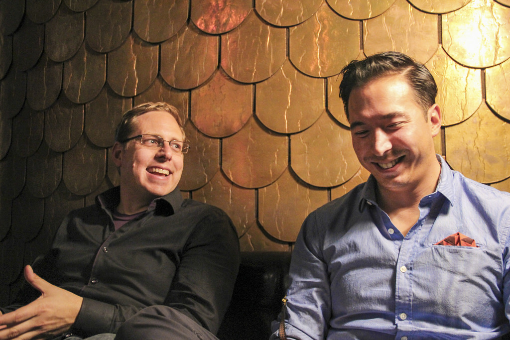 Founders Ben Larson and Carter Laren at the launch event. Photo by: Kyle Merrit Ludowitz