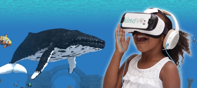 kindVR is developing virtual reality therapies for pain management. Image: kindVR.