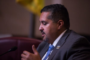 Councilmember Abel J. Guillén at the Oakland City Hall Council meeting. Photo by Khaled Sayed