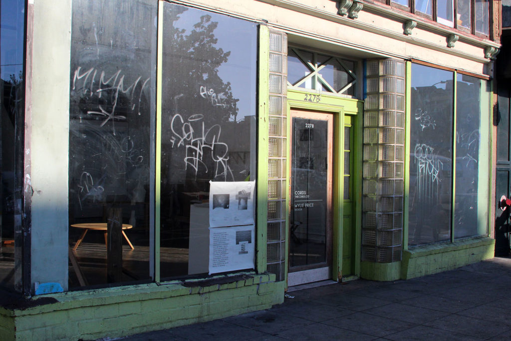 Rock Paper Scissor Collective's former space on Telegraph Avenue. The group left the space in August 2015. Photo by Briana Flin.