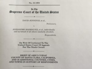 The amicus brief signed by Oakland's City Attorney, Barbara J. Parker, filed by Santa Clara County.
