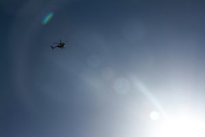 Police helicopters circled over the peaceful march, but no arrests were made. Photo by Andrew Beale.
