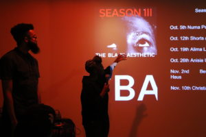 The Black Aesthetic collective members Jamal Betts and Zoe Samudzi present season three of their film series at Spirithaus Gallery in Oakland.