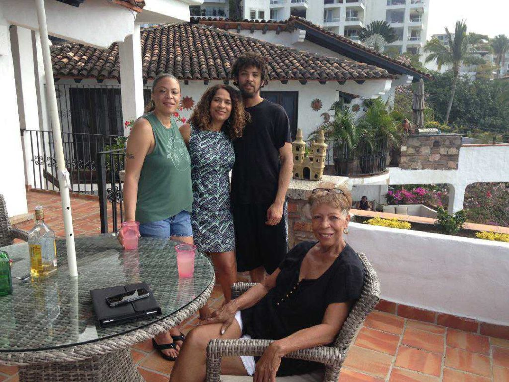 The Hall Family on vacation in Mexico. Left to right: Tamika Hall, Taun Hall, Miles Hall, and Donna Hall Barry. Submitted by Taun Hall.